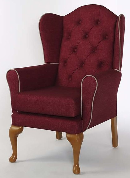 Alnwick Button Back Chair Dimensions: Overall Height - 1090mm Overall Width - 715mm Overall Depth - 775mm Seat Height - 485mm