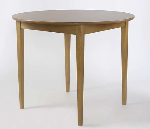 Round Tapered Leg Dining Table 1000mm Diameter