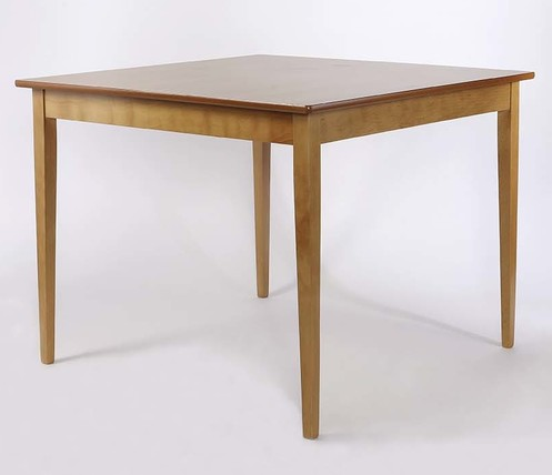 Tapered Leg Square Dining Table 1000mm Diameter