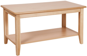 Long Coffee Table with Shelf